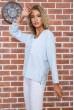 Голубая классическая блузка 177R010 недорого