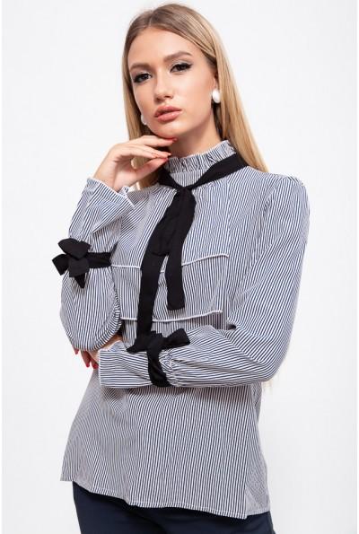 Блуза 115R283-2 цвет Сине-белый