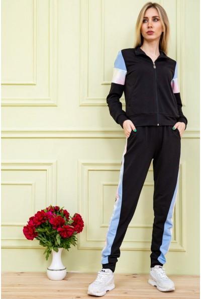 Спорт костюм женский  цвет черно-голубой 102R049 58424