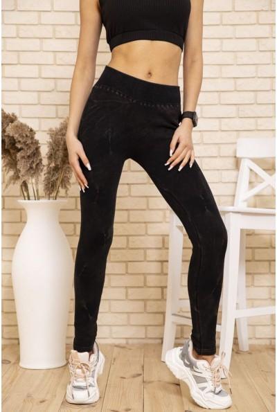 Лосины женские велюровые теплые (эко-мех ) цвет Черный 131R127474 50540