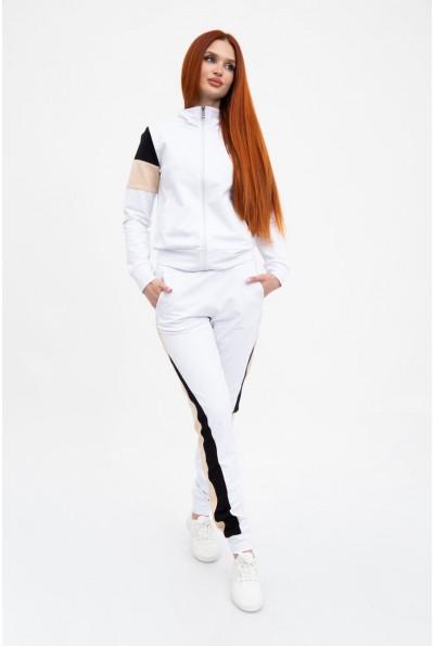 Стильный спортивный костюм женский прогулочный 102R049 Белый