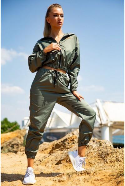 Спортивный  костюм женский 103R2006 цвет Хаки