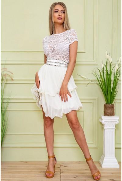 Платье 167R891 цвет Оливково-молочный 59366