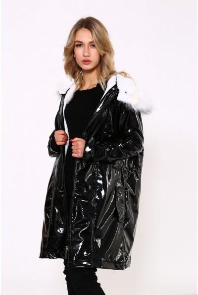 Черная латексная куртка 103R061