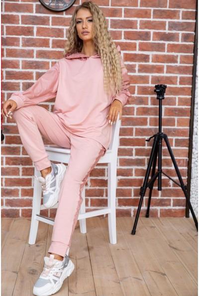 Спортивный костюм женский однотонный цвет Пудровый 104R0033 48420