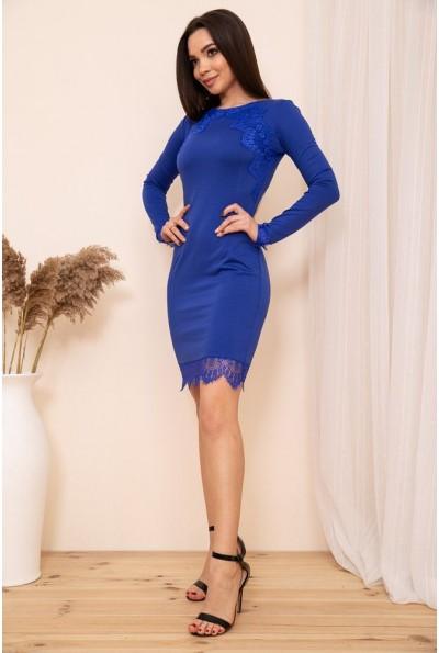 Облегающее мини платье с кружевом цвет Электрик 167R39-1 54340