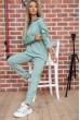Спортивный костюм женский однотонный цвет Оливковый 104R0033 недорого