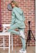 Спортивный костюм женский однотонный цвет Оливковый 104R0033 скидка