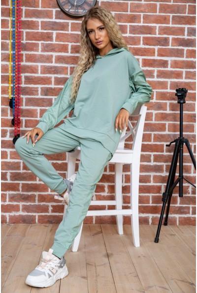 Спортивный костюм женский однотонный цвет Оливковый 104R0033