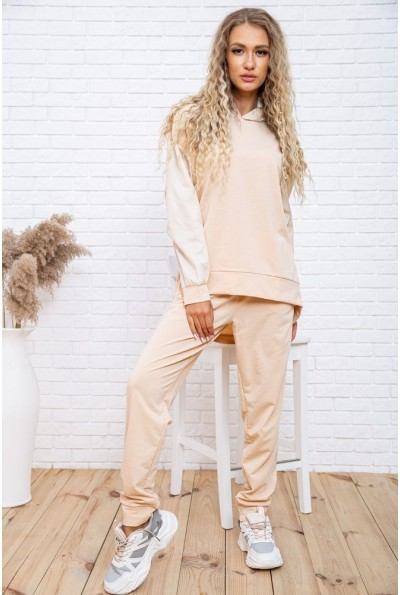Спортивный костюм женский однотонный цвет Бежевый 104R0033 48414