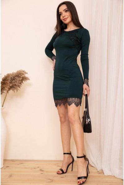 Облегающее мини платье с кружевом цвет Зеленый 167R39-1 54334