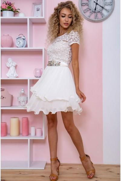 Платье  цвет молочный 167R891 59364