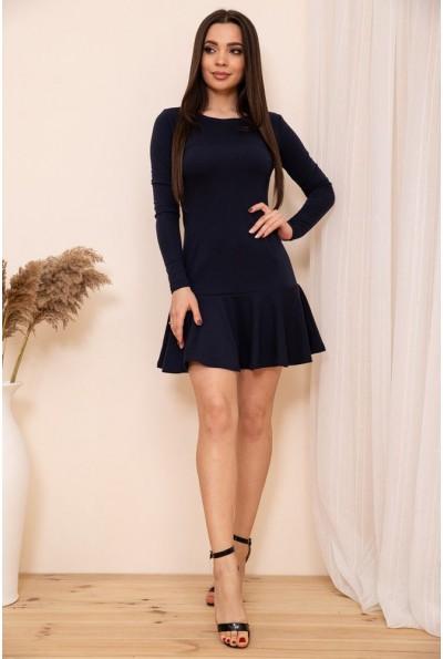 Приталенное короткое платье с оборкой цвет Синий 167R40-1 54368
