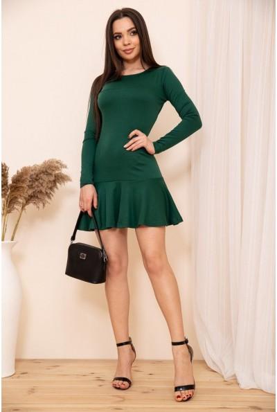 Приталенное короткое платье с оборкой цвет Зеленый 167R40-1