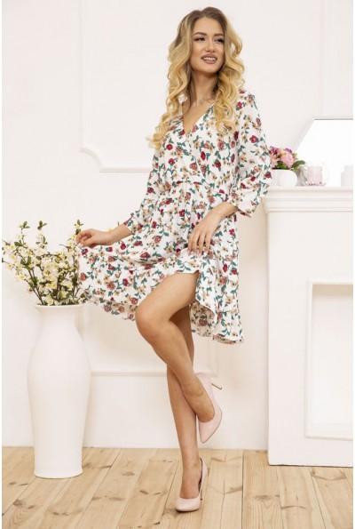 Платье женское на запах с цветочным принтом цвет Белый 115R395-4