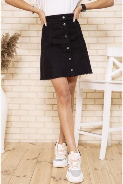 Черная джинсовая юбка на пуговицах 164R3039