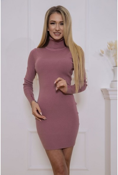 Платье-гольф 129R8681-1 цвет Пудровый 46562