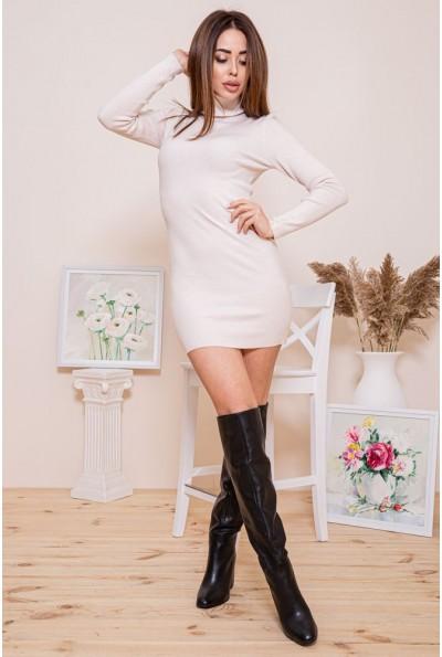 Платье-гольф 129R8681-1 цвет Бежевый