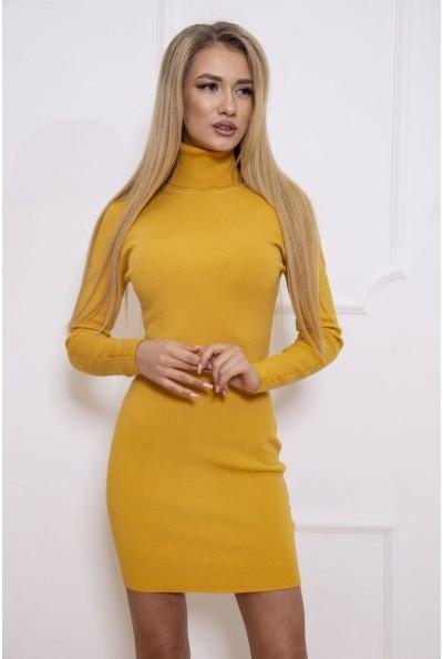 Платье-гольф 129R8681-1 цвет Горчичный 46558