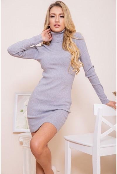 Платье-гольф 129R8681-1 цвет Серый 46263
