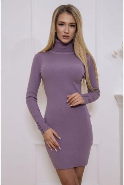 Платье-гольф 129R8681-1 цвет Сиреневый 46565