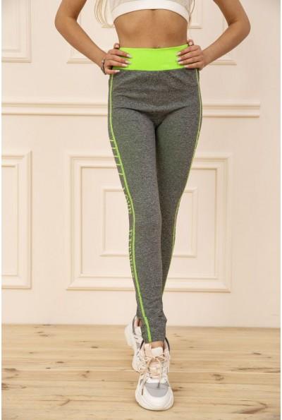 Лосины  женские для спорта 129R829S цвет Серо-салатовый 50950