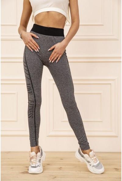 Лосины  женские для спорта  цвет серо-черный 129R829S 50952