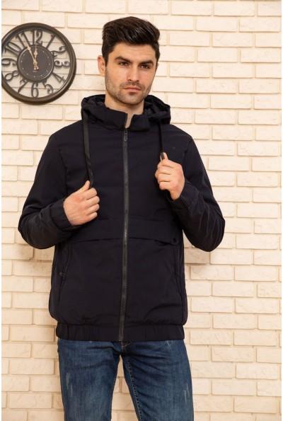Куртка мужская с капюшоном демисезонная цвет Синий 129R8802
