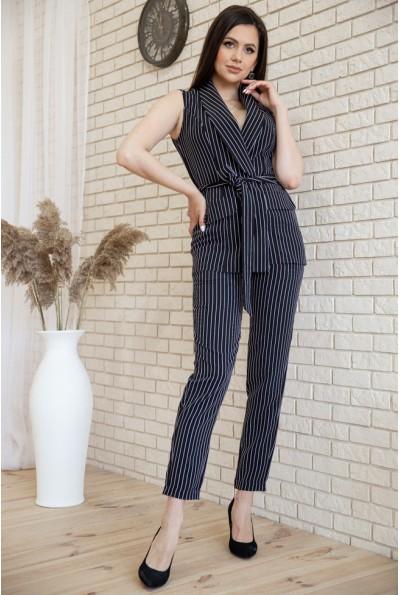 Женский костюм в полоску Жилет и брюки цвет Черный 119R126-1 54742