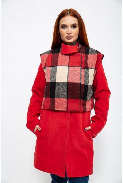 Пальто женское 104R1270 цвет Красный