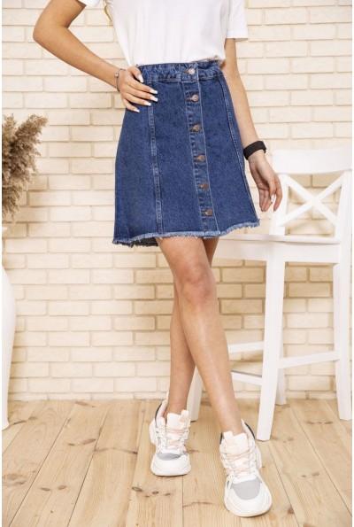 Джинсовая юбка синего цвета на пуговицах 164R3038 49633
