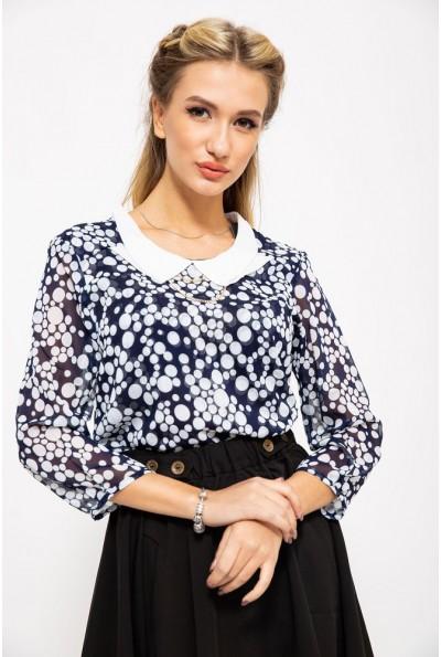 Блуза женская 115R210-2 цвет Синий