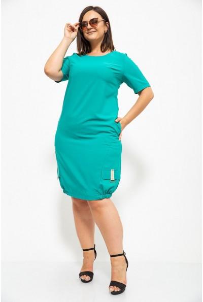 Платье 150R616 цвет Изумрудный