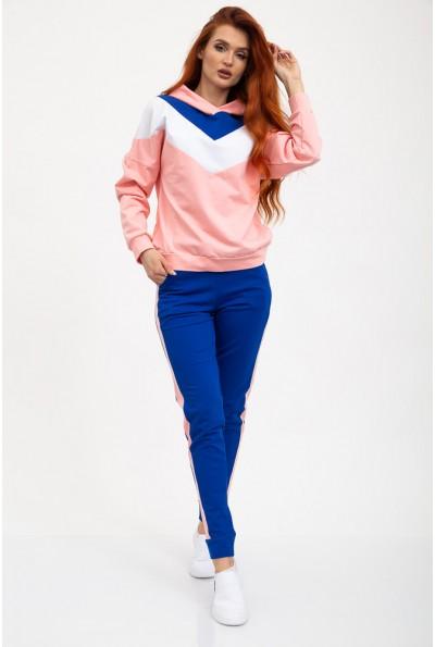 Спорт костюм женский 119R603 цвет Сине-розовый
