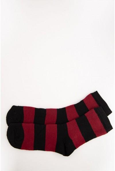 Носки женские 131R113298 цвет Бордово-черный