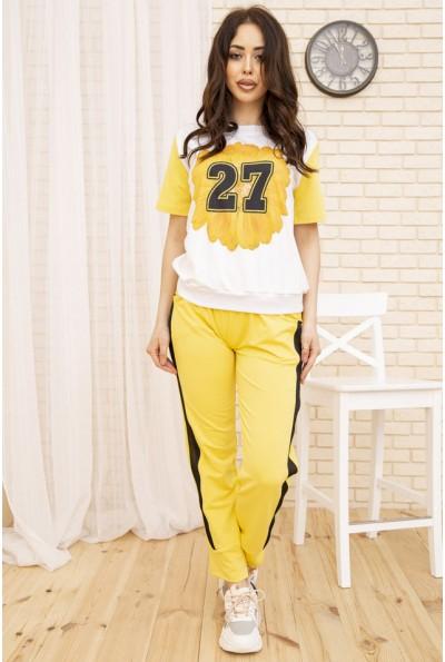 Женский прогулочный костюм цвет Желтый 167R25-1