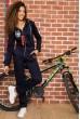 Купить Комбинезон женский на флисе   цвет темно-синий 167R039 64535