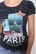 Черная женская футболка с принтом 119R035 цена 179.0000 грн