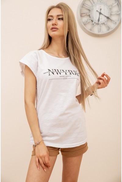 Футболка женская 119R158-1 цвет Белый 56461