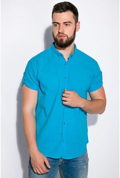 Рубашка бирюзовая с короткими рукавами 511F017