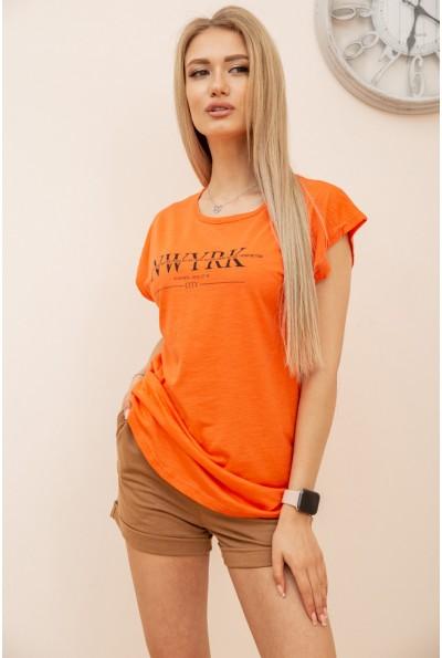 Футболка женская  цвет оранжевый 119R158-1 56463