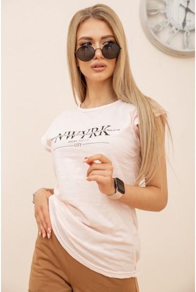 Футболка женская 119R158-1 цвет Светло-розовый 56467