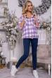 Рубашка женская 119R1318-1 цвет Сиренево-белый недорого