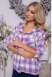Рубашка женская 119R1318-1 цвет Сиренево-белый стоимость