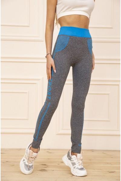 Лосины женские для спорта цвет Серо-голубой 129R829-8