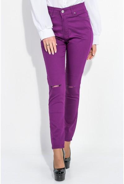 Брюки женские зауженные AG-0006075 цвет Фиолетовый