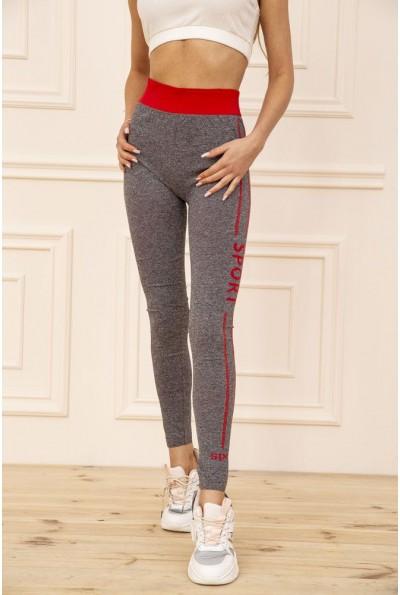 Лосины женские для спорта цвет Серо-красный 129R829-8 51044
