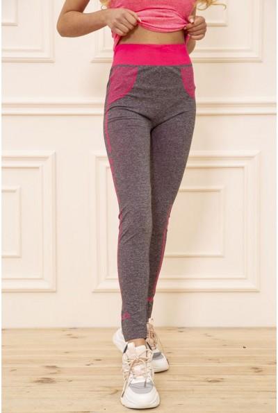 Лосины женские для спорта цвет Серо-розовый 129R829-8 51050