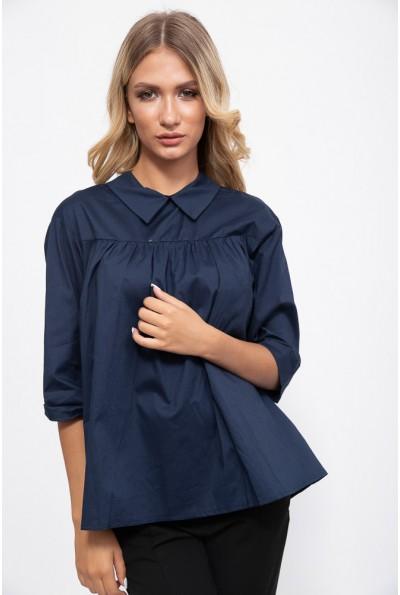 Блуза 115R192-2 цвет Темно-синий