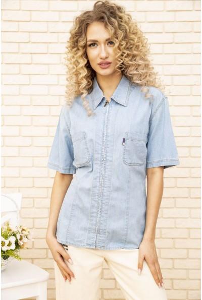 Джинсовая рубашка жен 123R1934 цвет Светло-голубой